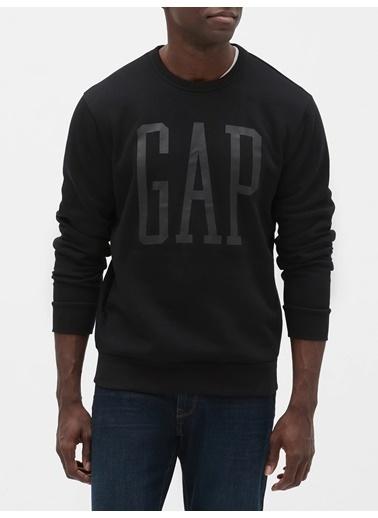 Gap Gap Logo Yuvarlak Yaka Sweatshirt Siyah
